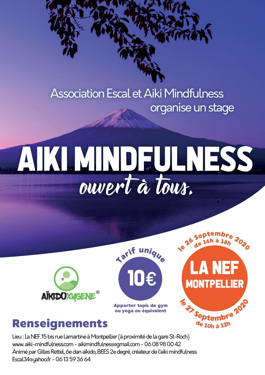 Stage découverte Aïki Mindfulness 26 et 27 septembre 2020 @ La NEF Studio | Montpellier | Occitanie | France