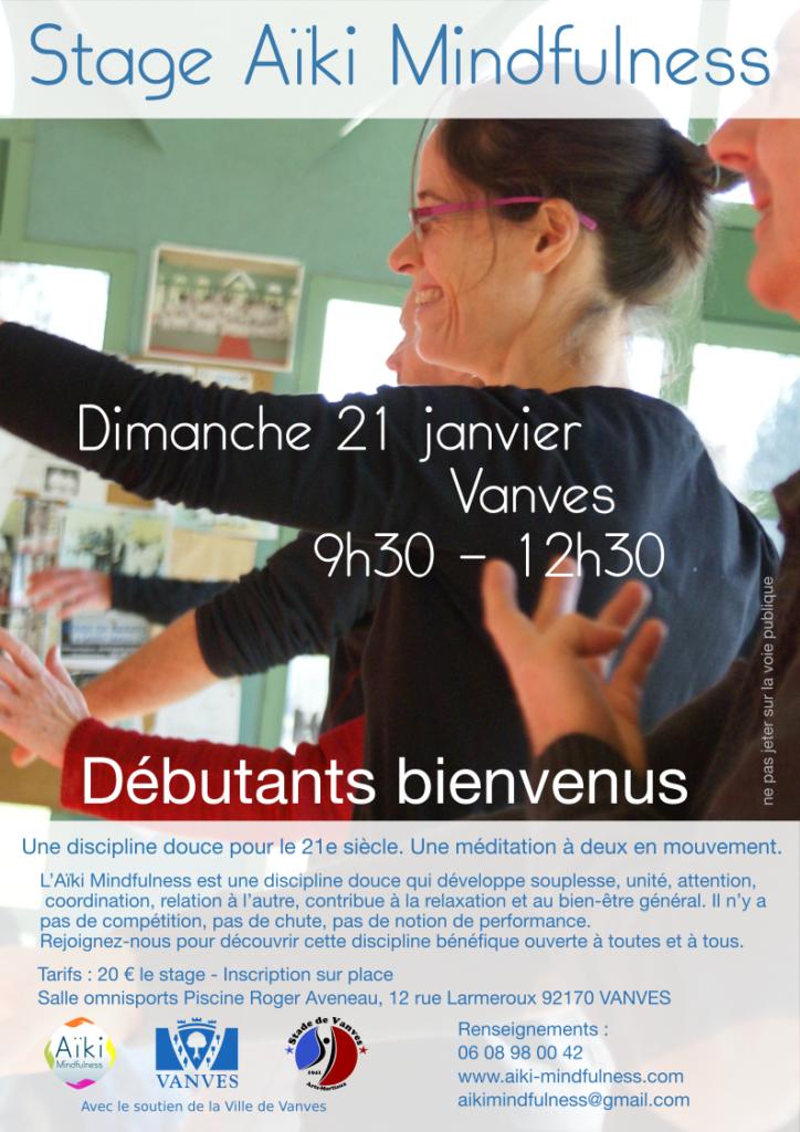 Stage Aïki Mindfulness 21 janvier 2018 @ Salle Omnisport Piscine Roger Aveneau  | Vanves | Île-de-France | France