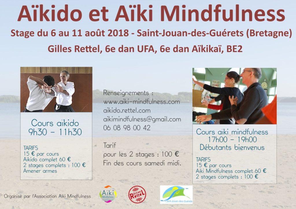 Affiche stage aikido aiki mindfulness été 2018