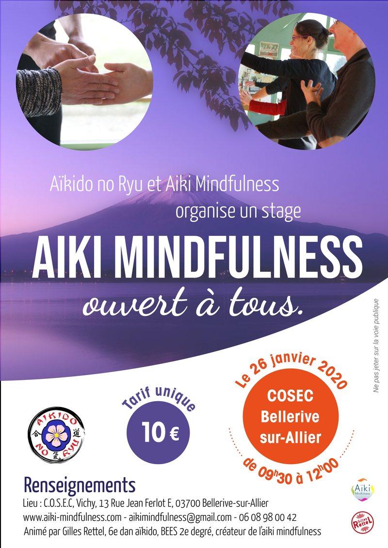 Stage Aïki Mindfulness 26 janvier 2020 @ COSEC Vichy | Bellerive-sur-Allier | Auvergne-Rhône-Alpes | France